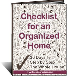 checklist for an organized home