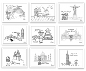 Kids Travel Printable Calendar