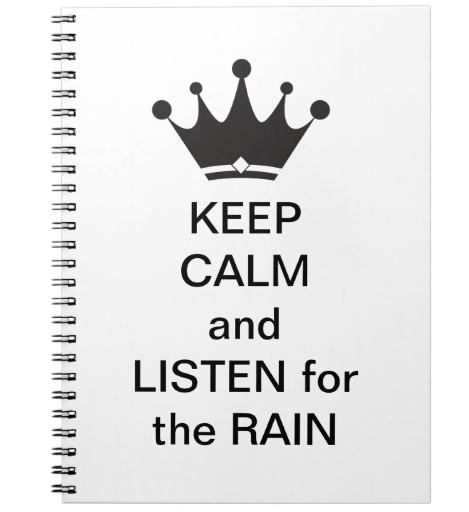 listen for the rain notebook, paradisepraises.com