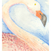 Flamingo Print Note Card, Katie Hornor